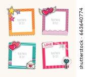 photo frame with heart  love... | Shutterstock .eps vector #663640774