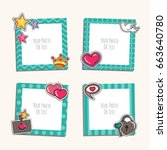 photo frame with heart  love... | Shutterstock .eps vector #663640780