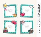 photo frame with heart  love... | Shutterstock .eps vector #663640780