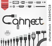 connect logo concept made of... | Shutterstock .eps vector #663644218