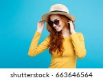 close up portrait young... | Shutterstock . vector #663646564