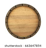 The Bottom Of A Wine Barrel On...