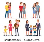 family development stages.... | Shutterstock .eps vector #663650296