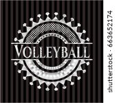 volleyball silvery emblem or... | Shutterstock .eps vector #663652174