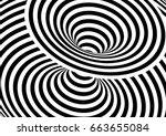 vector op art pattern. optical... | Shutterstock .eps vector #663655084