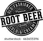 vintage root beer soda fountain ... | Shutterstock .eps vector #663655396