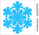 snowflake. blue snowflake on... | Shutterstock .eps vector #663659920
