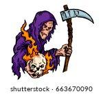 vintage tattoo art illustration ... | Shutterstock .eps vector #663670090