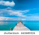 calm meditation path filled... | Shutterstock . vector #663680326