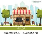 Street Cafe. Coffeeshop. City...
