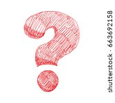 question mark symbol | Shutterstock .eps vector #663692158