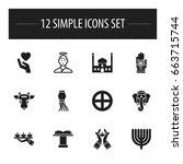 set of 12 editable dyne icons....