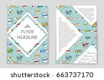 abstract vector layout... | Shutterstock .eps vector #663737170
