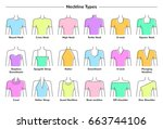 vector illustration set of...   Shutterstock .eps vector #663744106