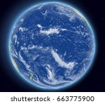 Pacific Ocean On Planet Earth...