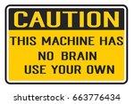 caution sign | Shutterstock .eps vector #663776434