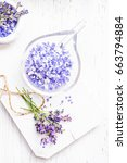 ingredients for lavender spa ... | Shutterstock . vector #663794884