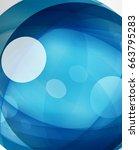 glossy glass shiny bubble... | Shutterstock .eps vector #663795283