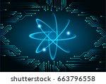 dark blue light abstract... | Shutterstock .eps vector #663796558