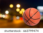 basketballs separated from the... | Shutterstock . vector #663799474