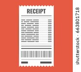 receipt icon. invoice sign....   Shutterstock .eps vector #663801718