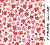 seamless flowers    Shutterstock .eps vector #663805354