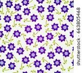 seamless flowers    Shutterstock .eps vector #663805468
