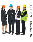 full length of four architects... | Shutterstock . vector #66381184