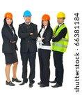 full length of four architects... | Shutterstock . vector #66381184