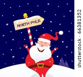 happy christmas santa with...   Shutterstock .eps vector #66381352
