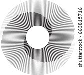 lines in circle form . spiral... | Shutterstock .eps vector #663815716