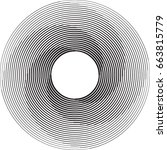 lines in circle form . spiral... | Shutterstock .eps vector #663815779