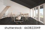 minimalist white and gray... | Shutterstock . vector #663822049