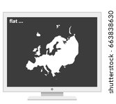 detailed map of europe. flat...   Shutterstock .eps vector #663838630