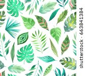 seamless pattern with... | Shutterstock . vector #663841384