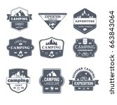 camping activity   vector set... | Shutterstock .eps vector #663843064