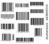 set of vector barcodes   Shutterstock .eps vector #663849214