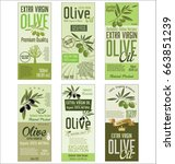 olive oil retro green... | Shutterstock .eps vector #663851239
