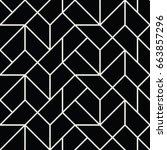 abstract geometric grid art... | Shutterstock .eps vector #663857296