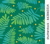 seamless pattern  hand drawn... | Shutterstock .eps vector #663860314