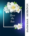 template of the invitation for... | Shutterstock .eps vector #663865414