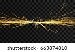 electricity lighting effects.... | Shutterstock .eps vector #663874810