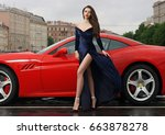glamorous sexy fashionable... | Shutterstock . vector #663878278
