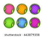 cartoon colorful round buttons...