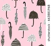 seamless pattern with hand...   Shutterstock .eps vector #663881968
