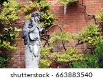 Statue Of The Greek God Pan In...