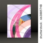 abstract background for... | Shutterstock .eps vector #663885748
