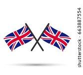 crossed flag of uk | Shutterstock .eps vector #663887554