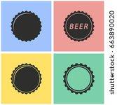 bottle cap vector icon with... | Shutterstock .eps vector #663890020
