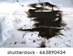 black ink conveyed over white...   Shutterstock . vector #663890434